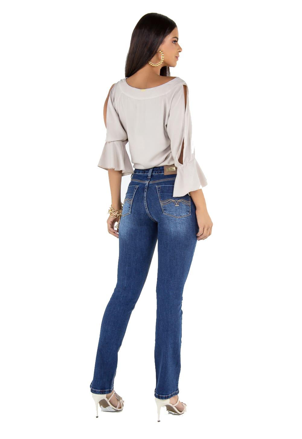 Calça Boot Cut Feminina Tradicional Jeans
