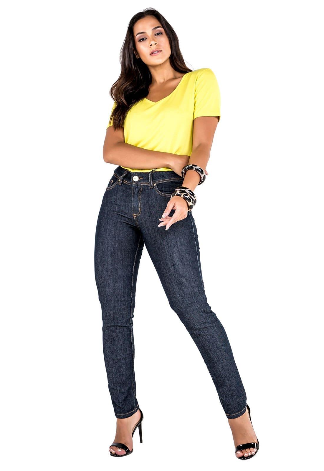 Calça Cigarrete Feminina Tradicional Jeans