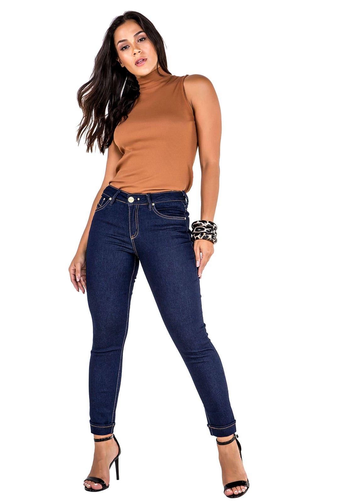 Calça Jeans Cropped Feminina Tradicional