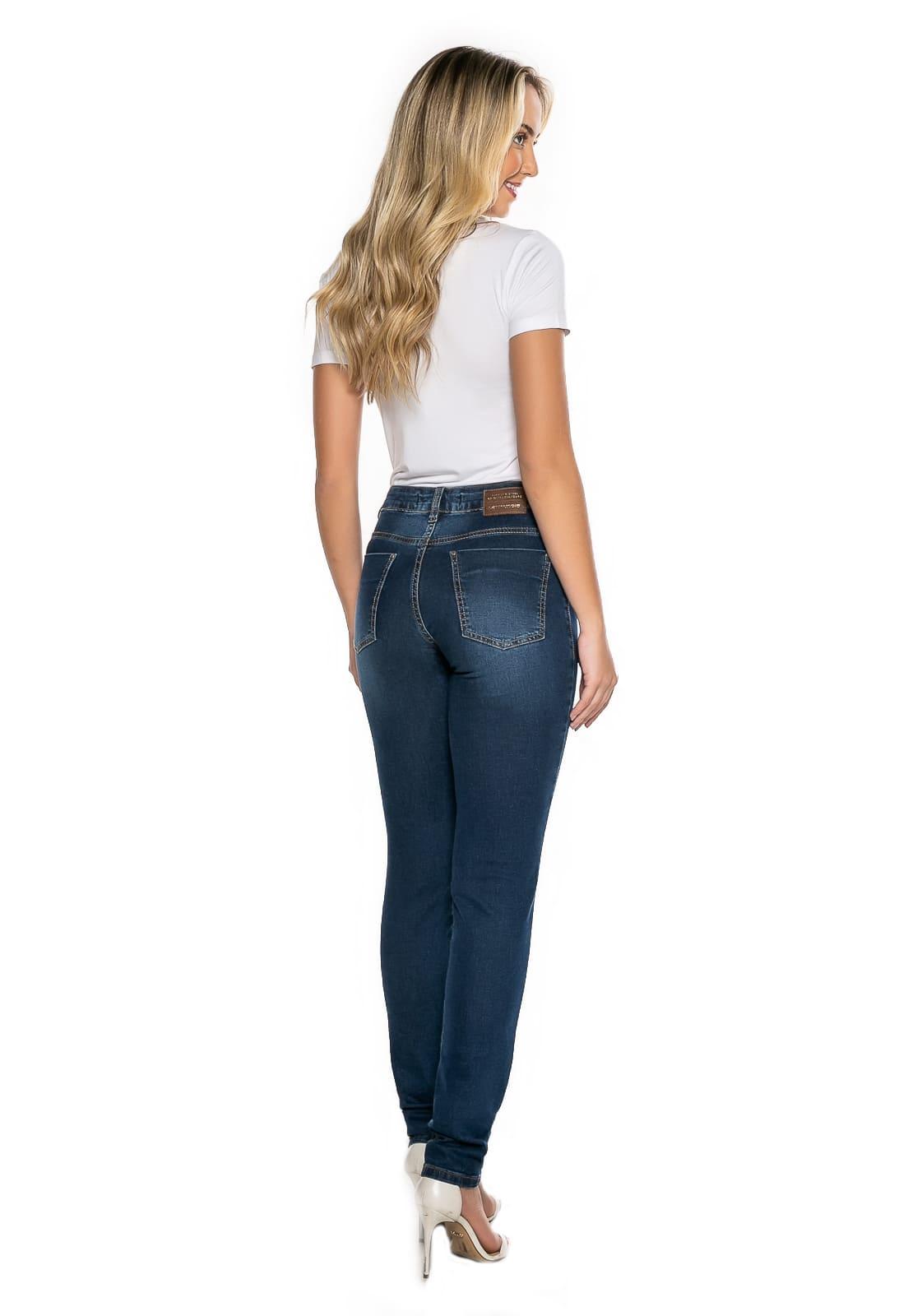 Calça Feminina Cigarrete Jeans Tradicional