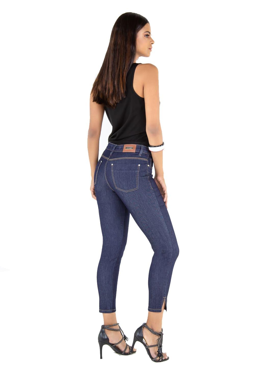 Calça Feminina Cropped Tradicional Jeans