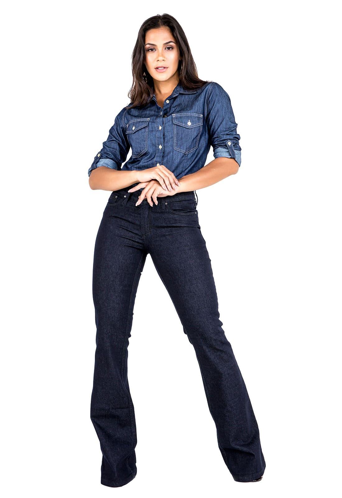 Calça Feminina Flare Tradicional Jeans