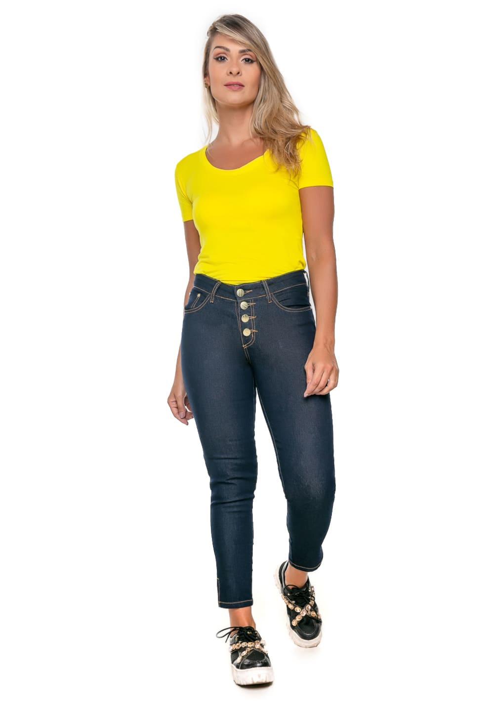 Calça Feminina Jeans Cropped Tradicional