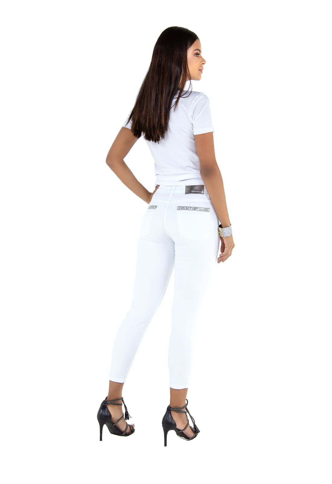 Calça Feminina Latifundio Cropped Tradicional Branco