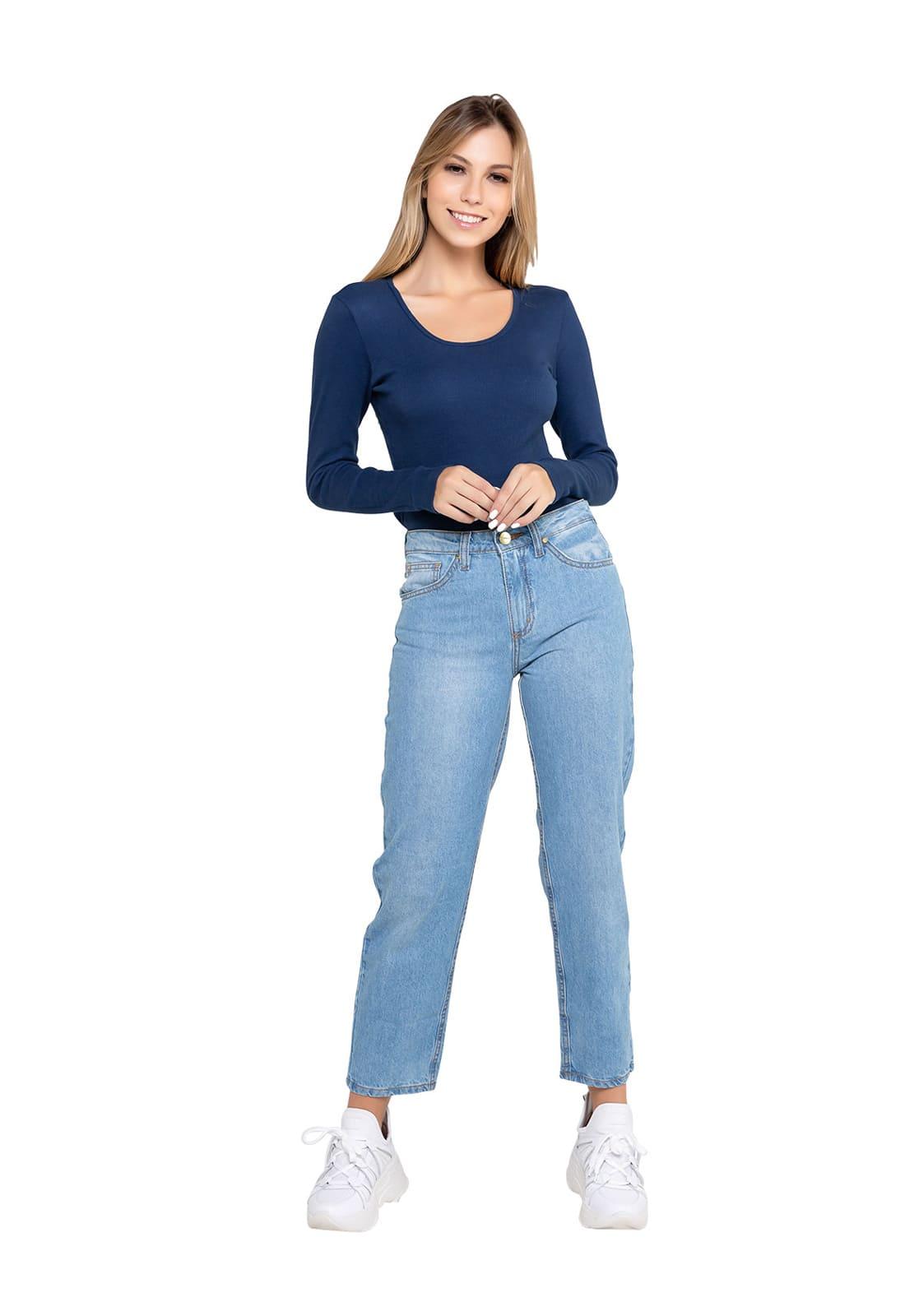 Calça Feminina Mom Jeans Claro