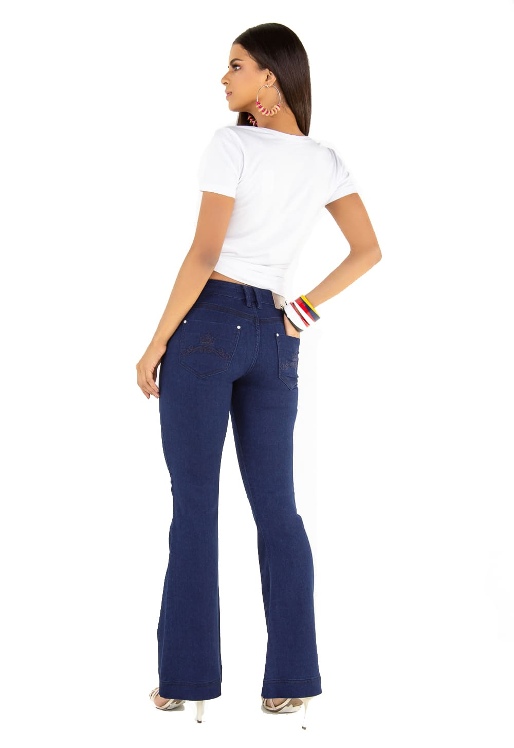 Calça Flare Feminina Tradicional Jeans
