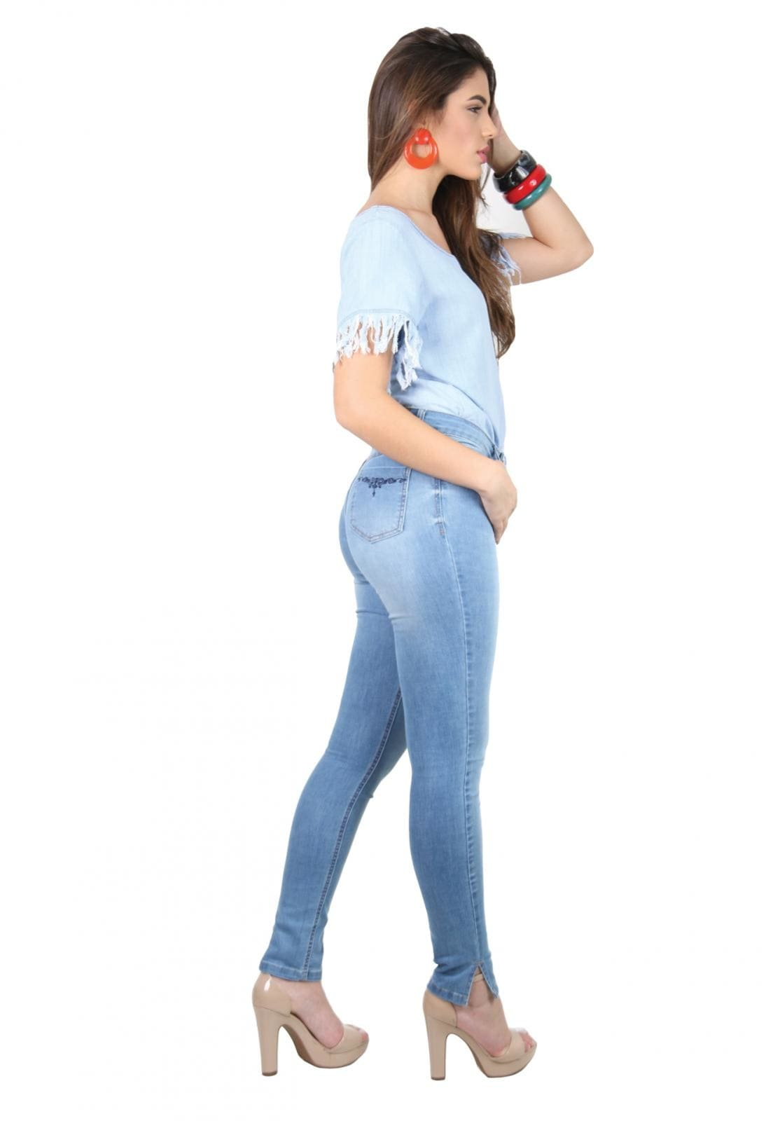 Calça Feminina Tradicional Jeans