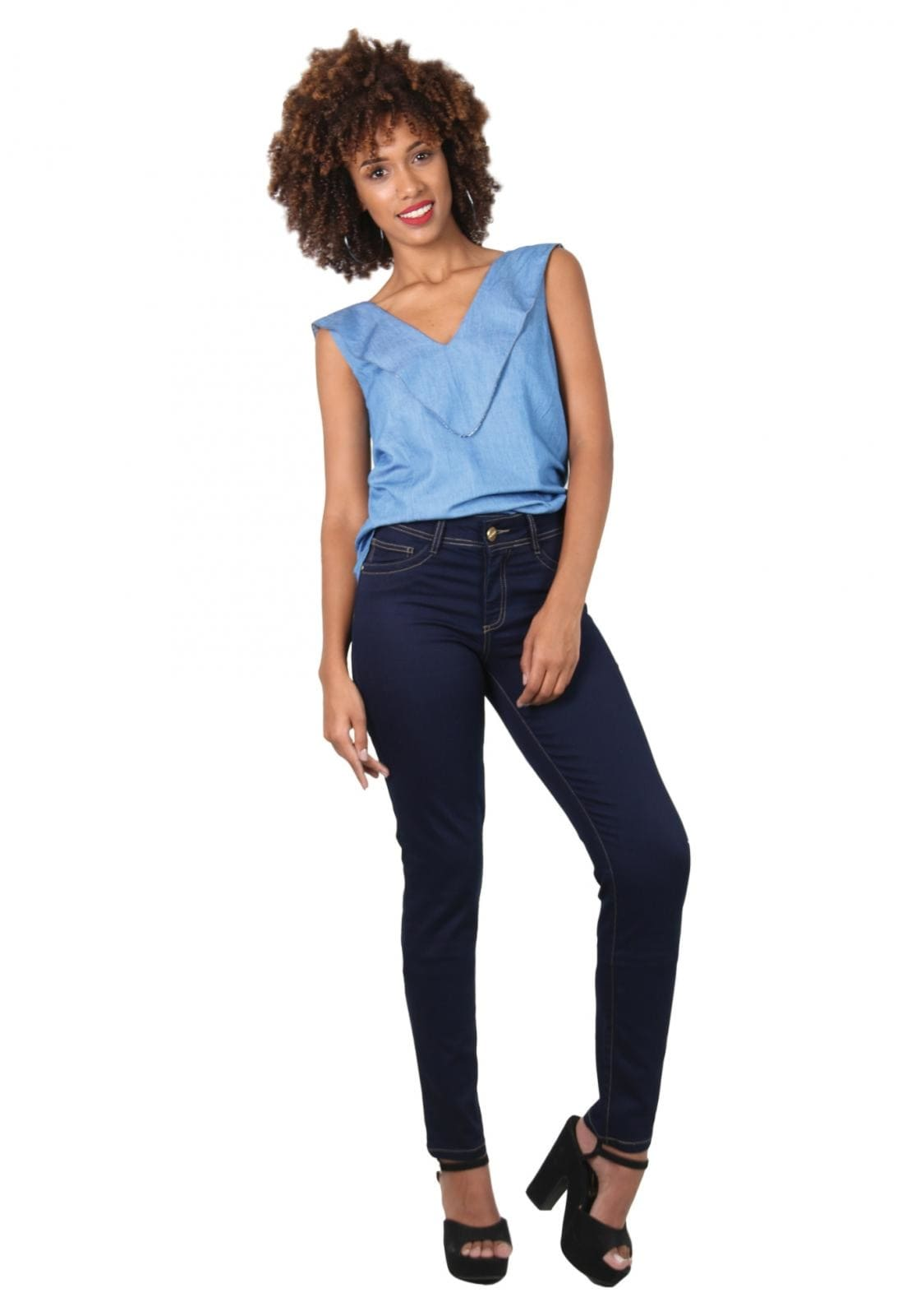 Calça Jeans Cigarrete Latifundio Azul