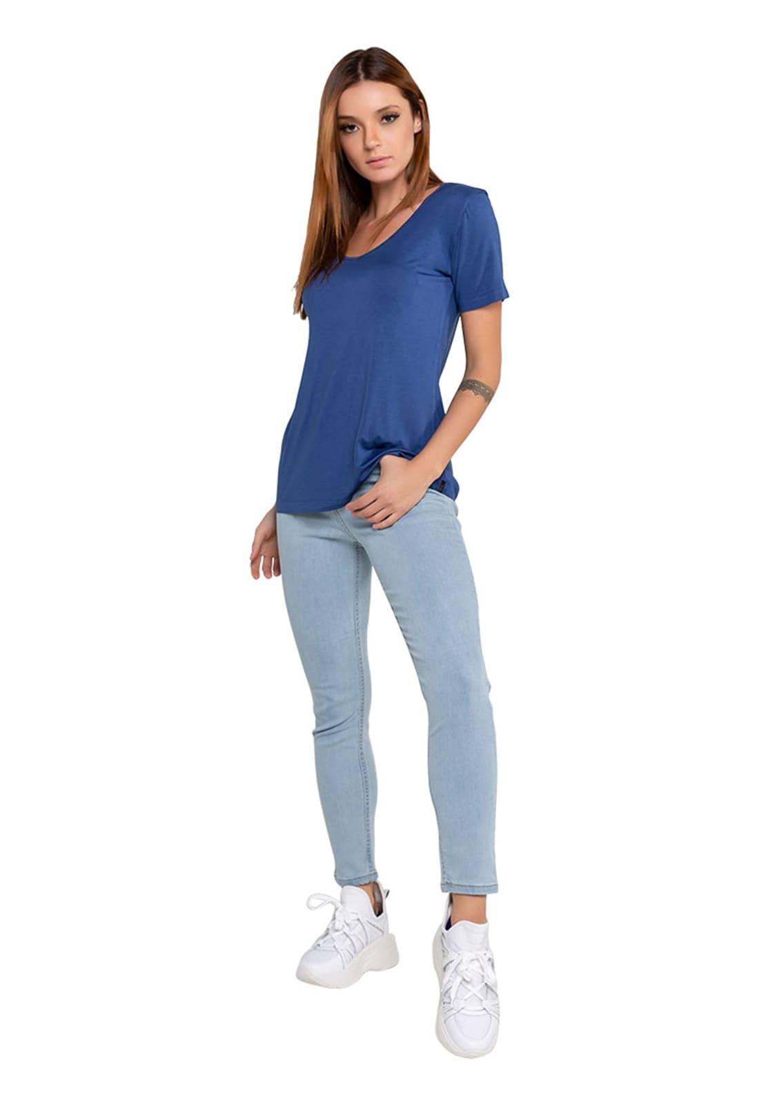 Calça Jeans Feminina Alta Cropped