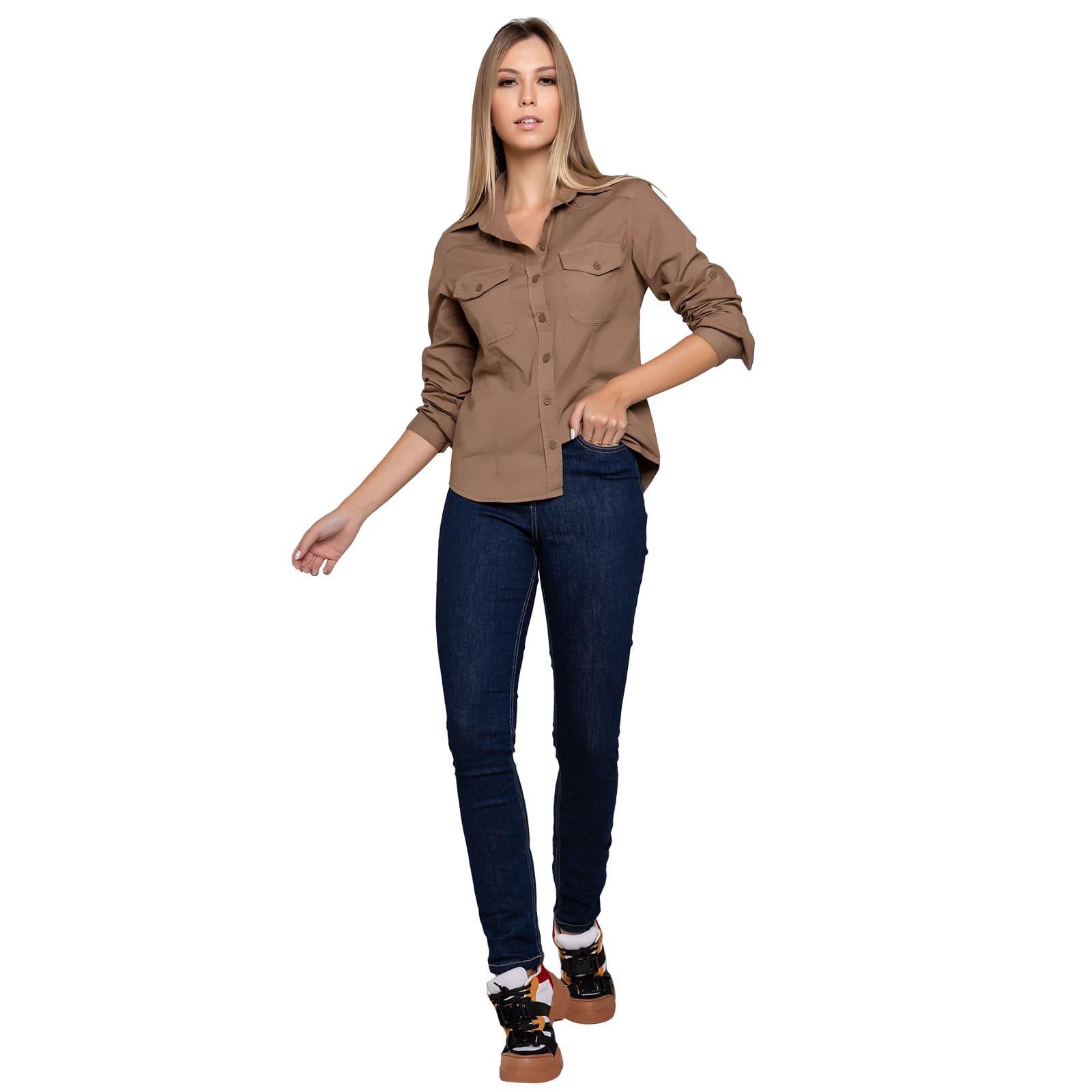 Calça Jeans Feminina Alta Skinny