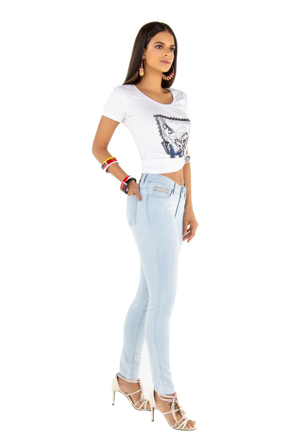 Calça Jeans Feminina Cigarrete Tradicional