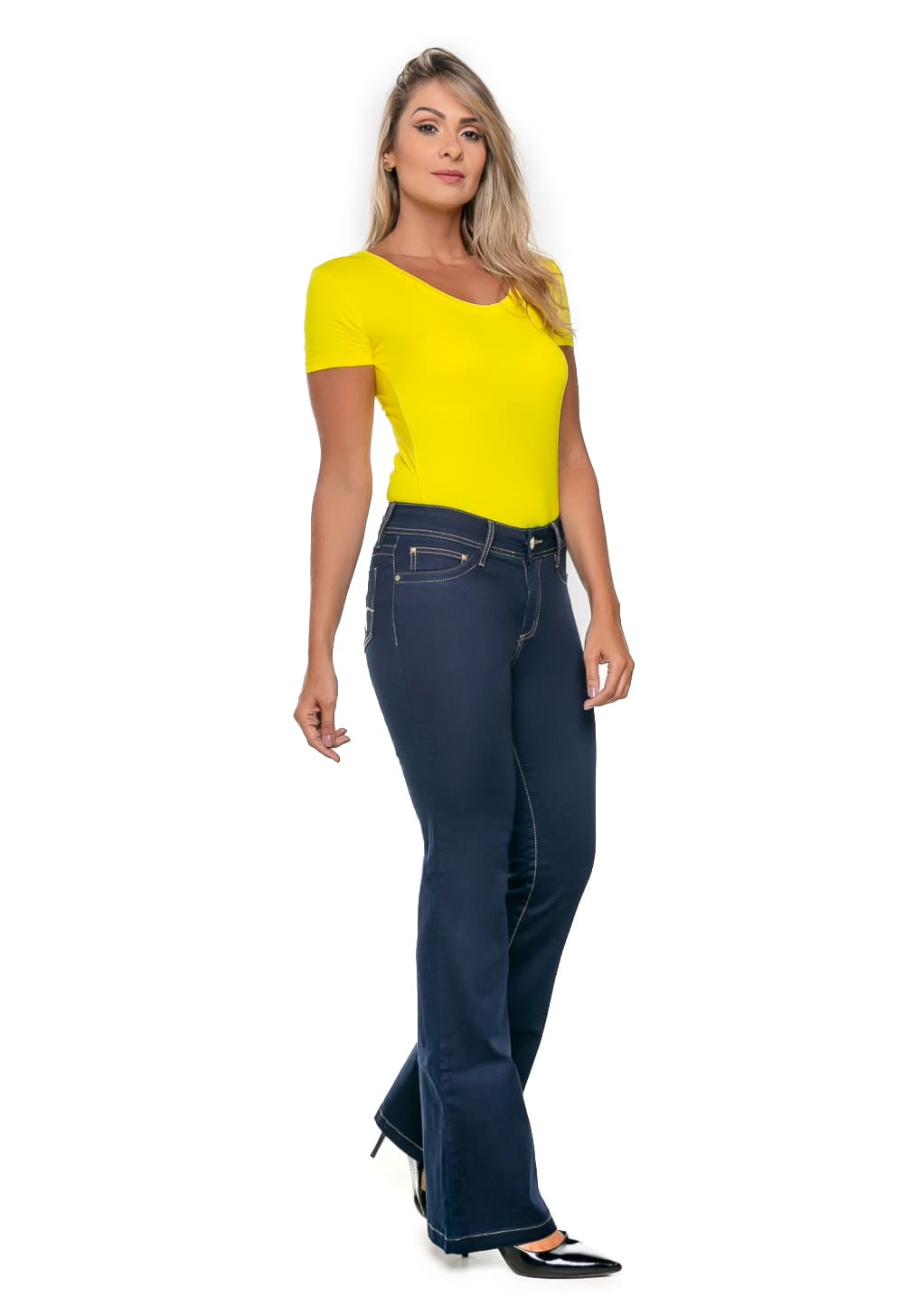 Calça Jeans Feminina Flare Azul