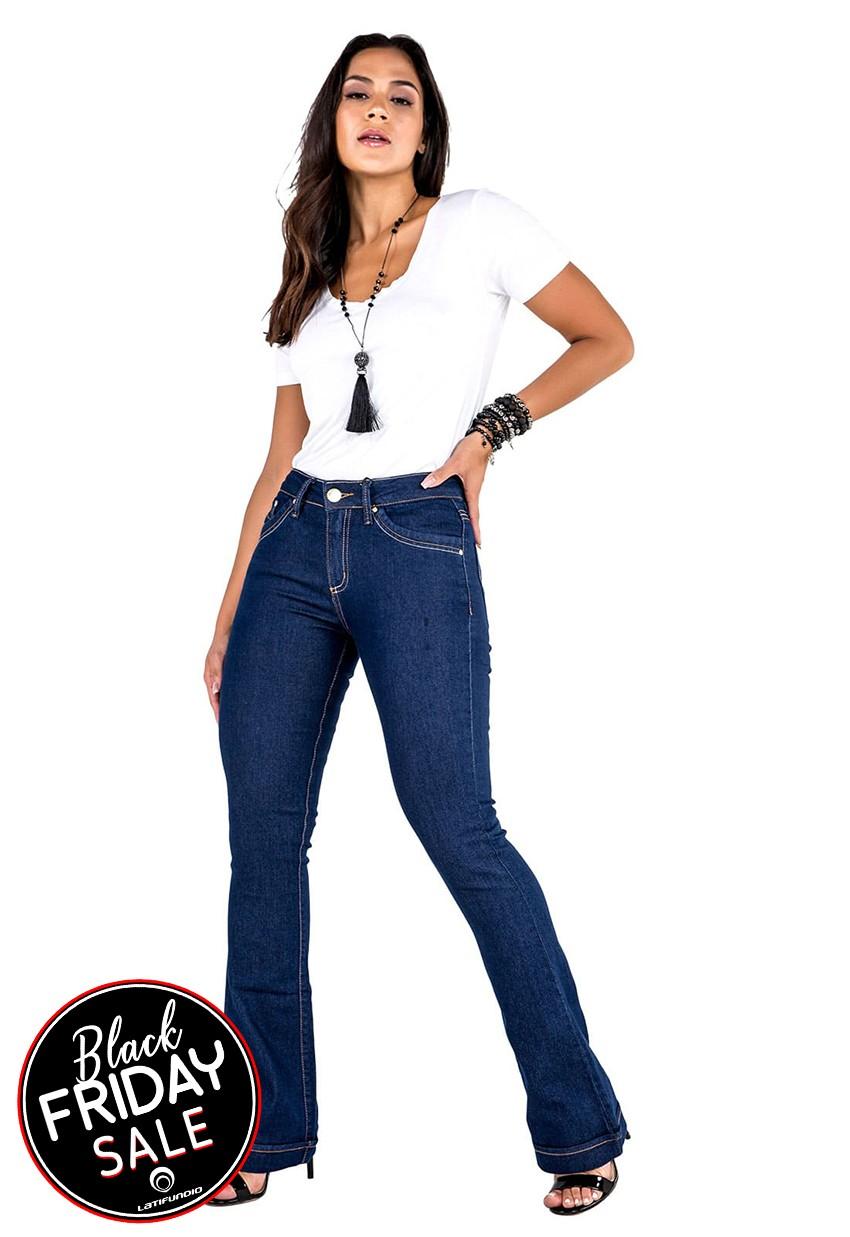 Calça Jeans Feminina Flare Tradicional