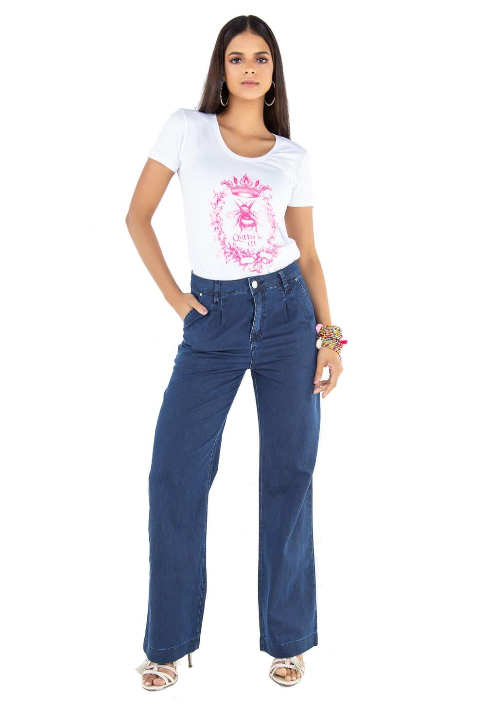 Calça Jeans Feminina Latifundio Pantalona