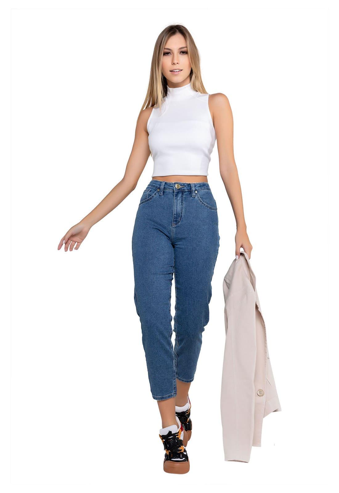 Calça Jeans Feminina Mom
