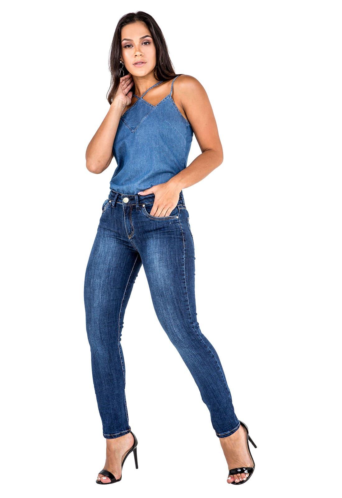 Calça jeans Feminina Skinny Tradicional