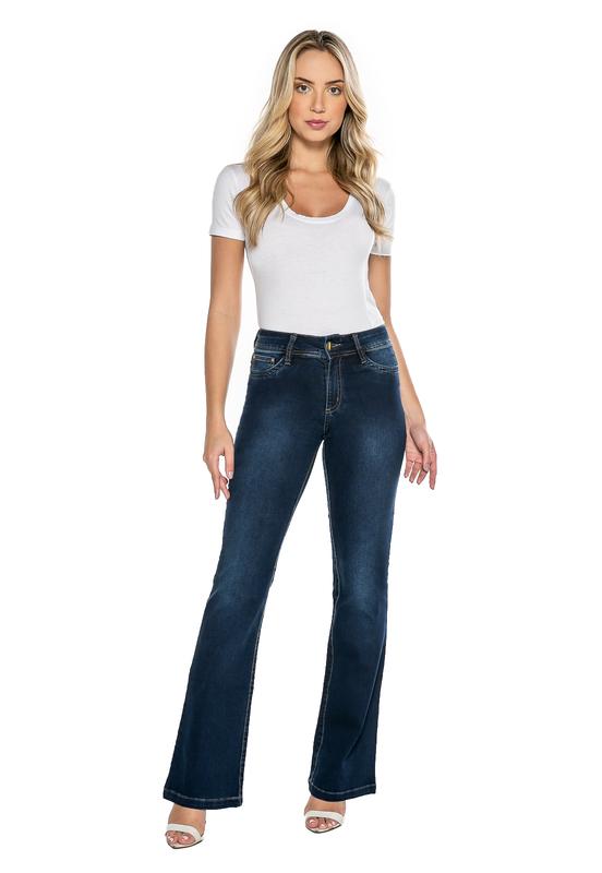 Calça Flare Jeans Tradicional Feminina