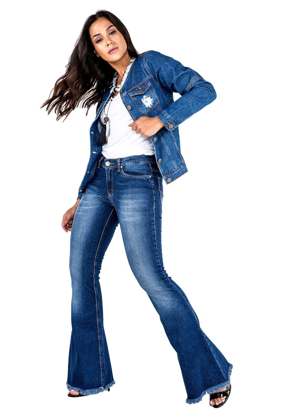 Calça Jeans Feminina Tradicional Sino
