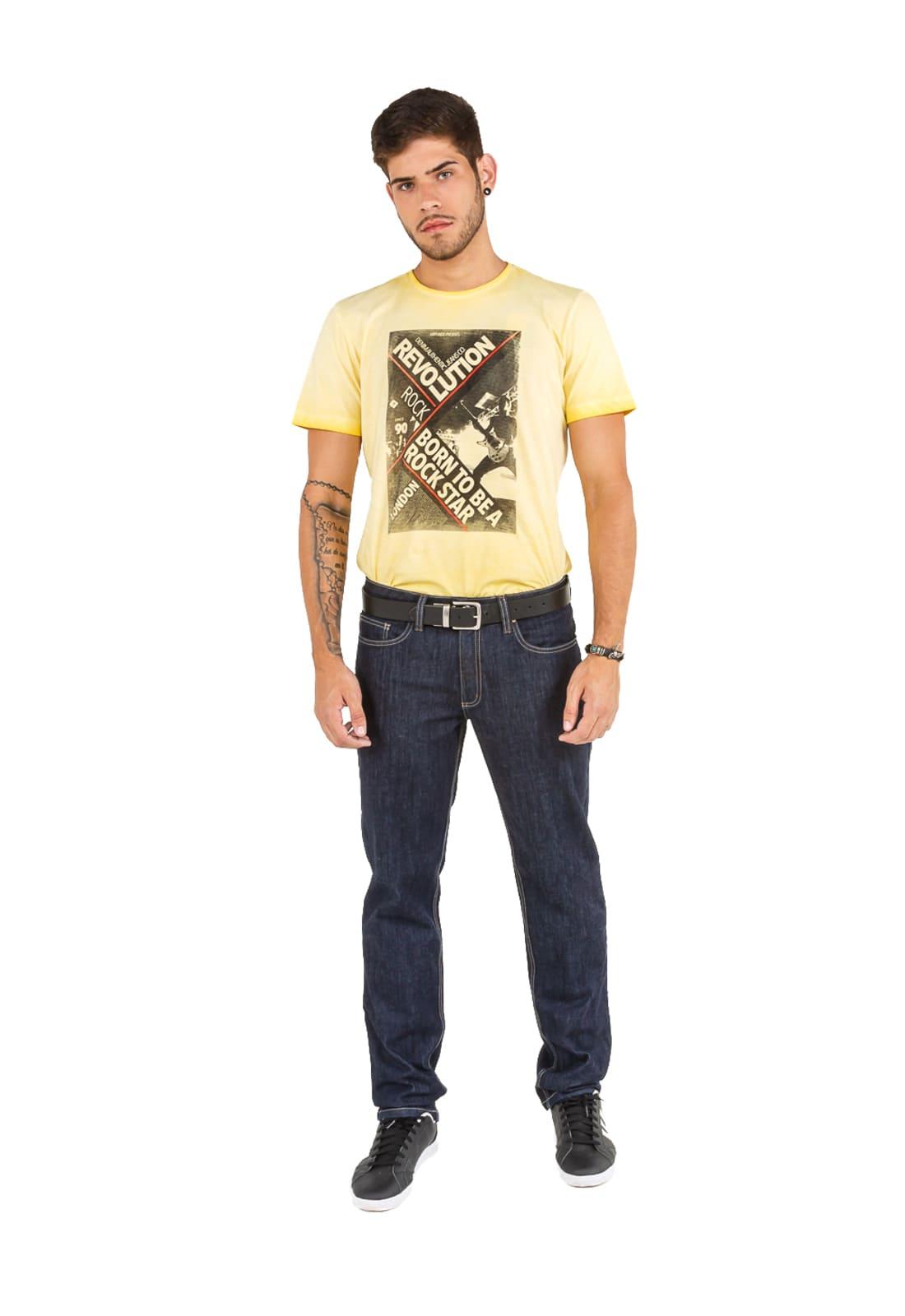 Calça Jeans Reta Masculina Latifundio Amaciada