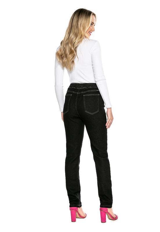 Calça Jogger Preta Feminina Jeans