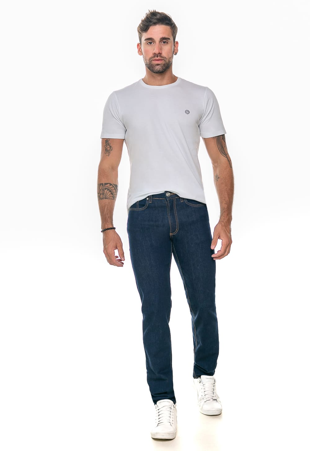 Calça Masculina Jeans Reta