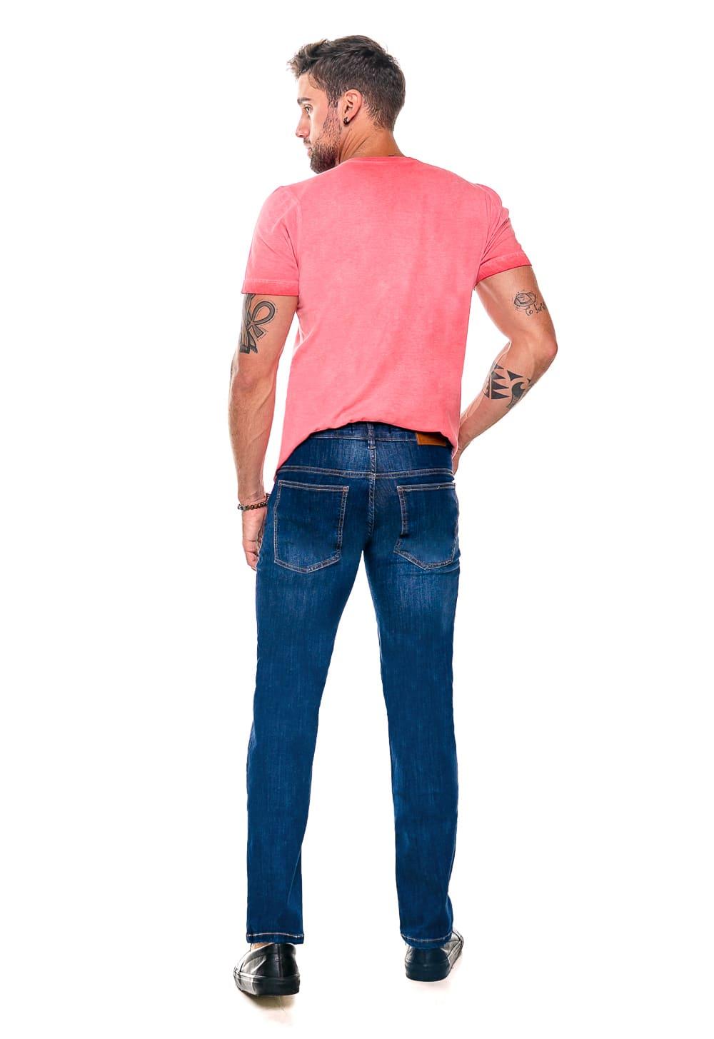 Calça Masculina Reta jeans Stone