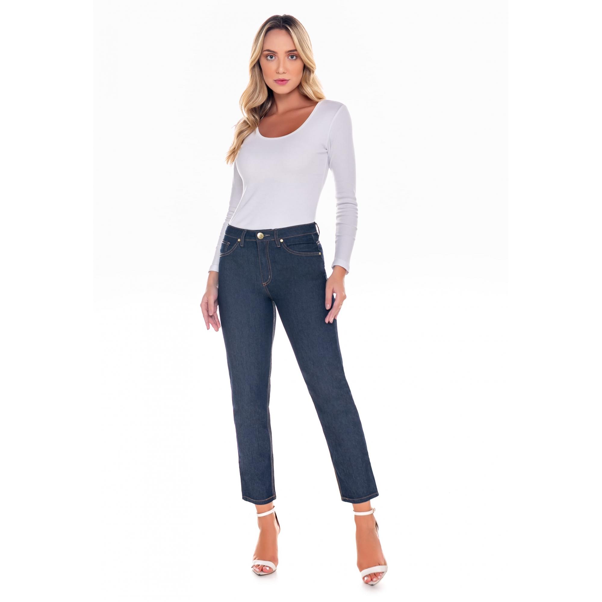 Calça Mom Feminina Jeans