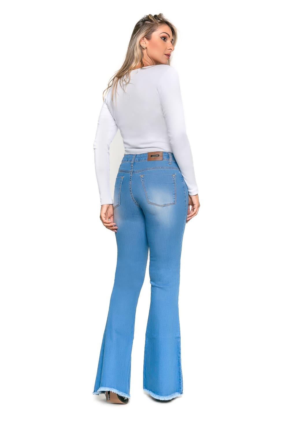 Calça Sino Feminina Tradicional Jeans