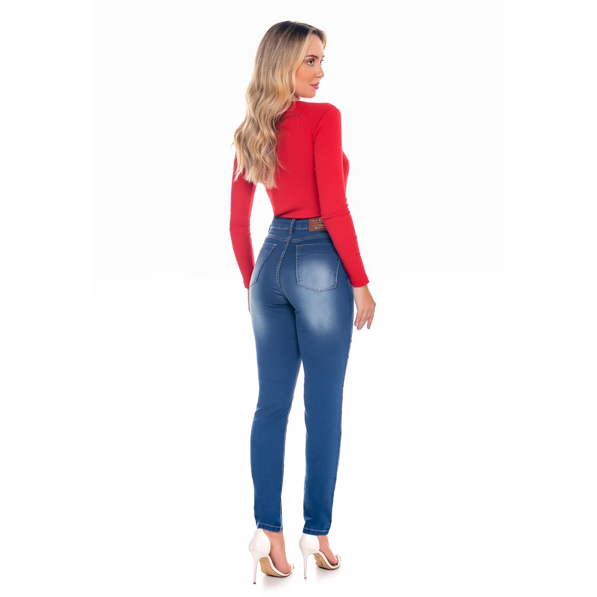 Calça Skinny Feminina Cintura Alta Latifundio