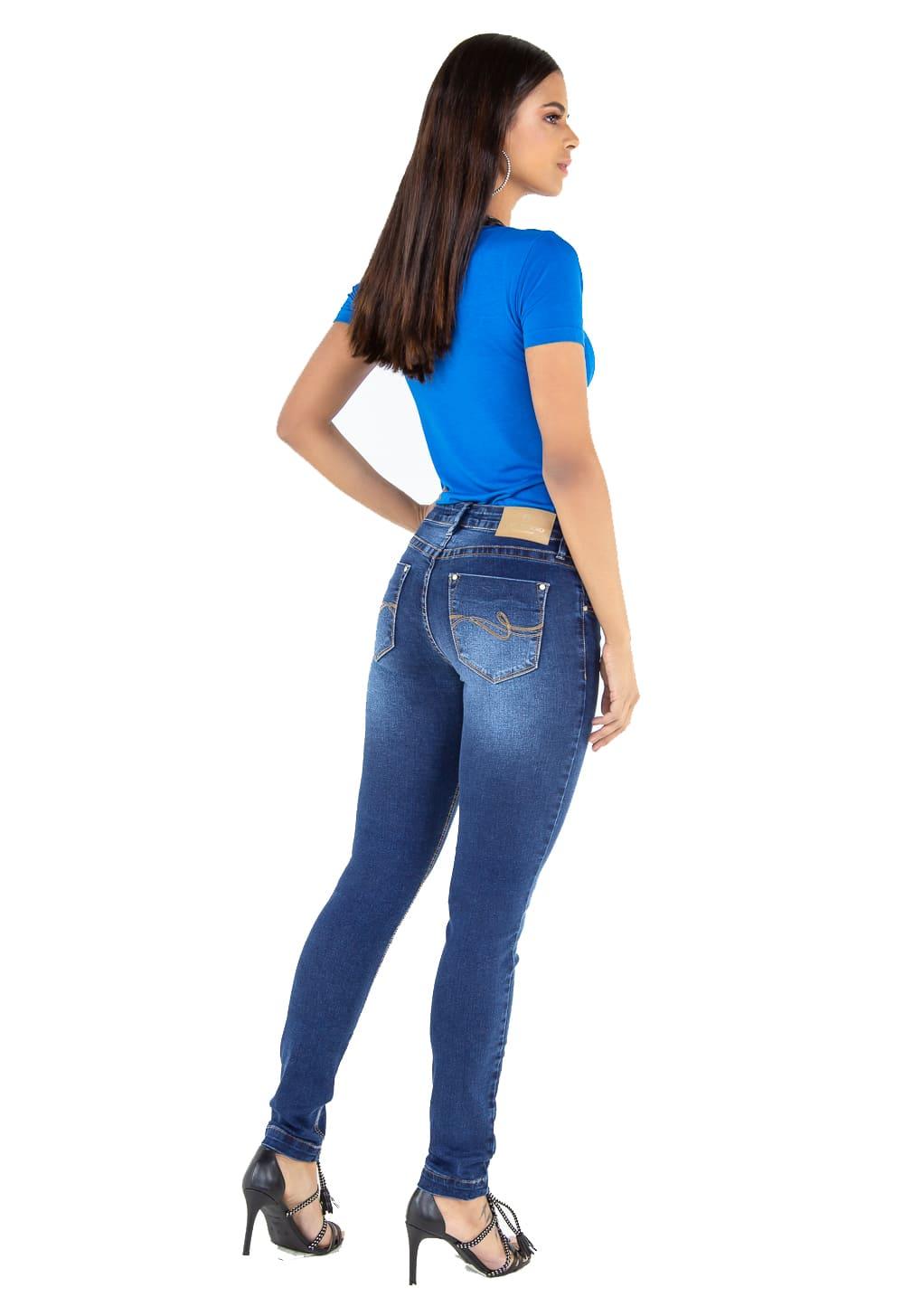 Calça Skinny Feminina Tradicional Jeans