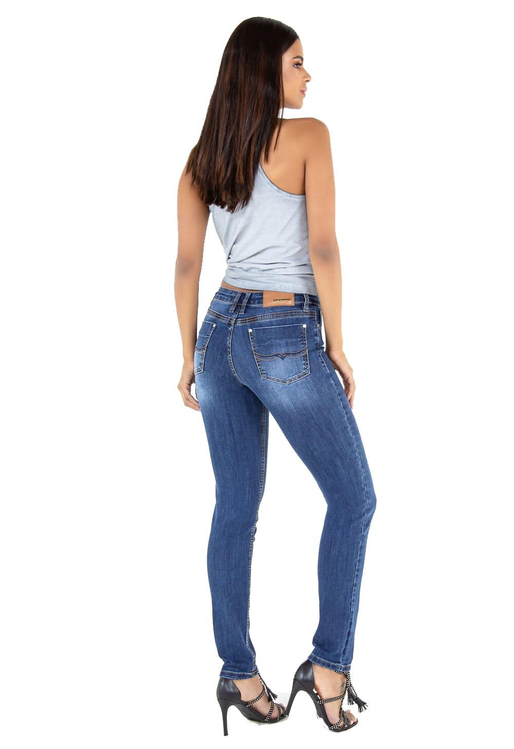 Calça Tradicional Cigarrete Feminina Jeans