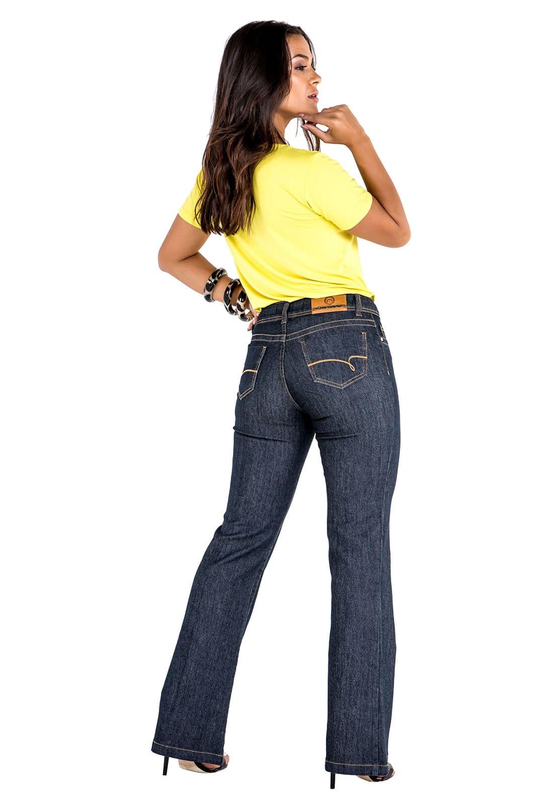 Calça Tradicional Feminina Jeans Flare