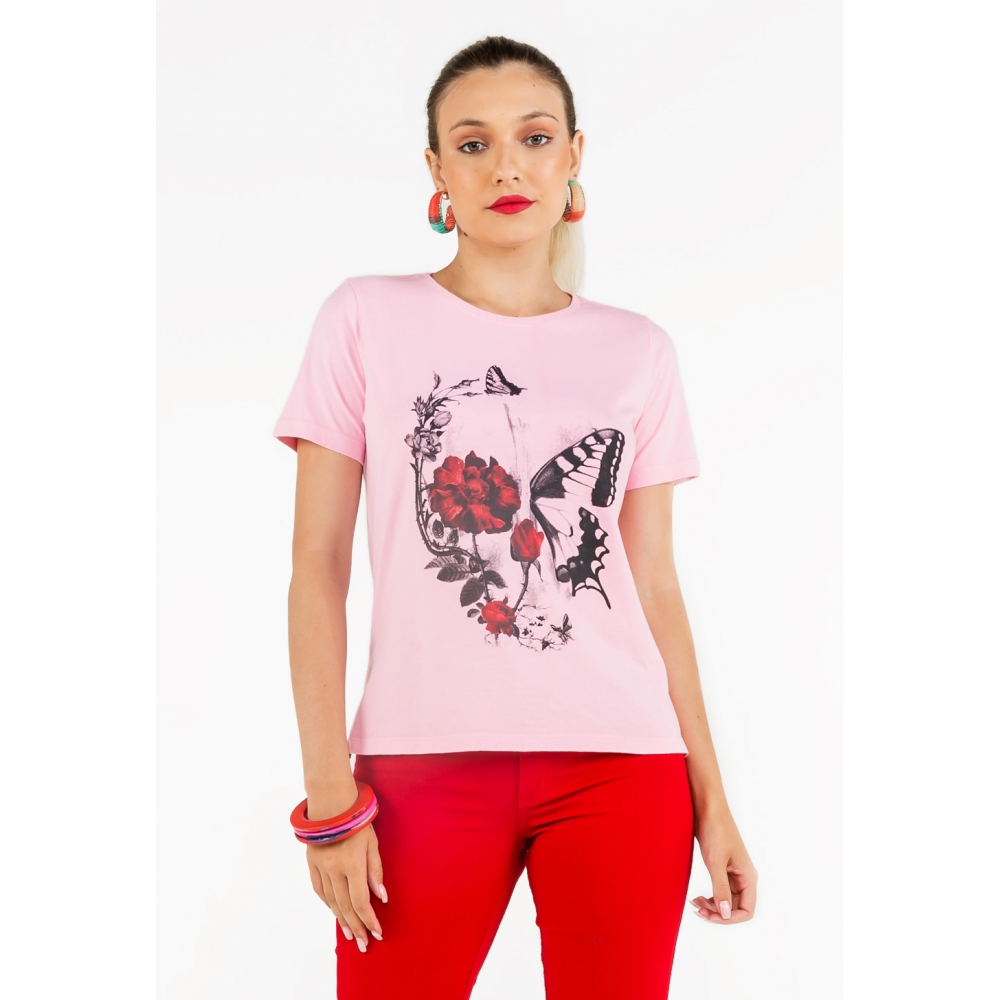 Camiseta Básica Malha Latifundio Estampa Skull