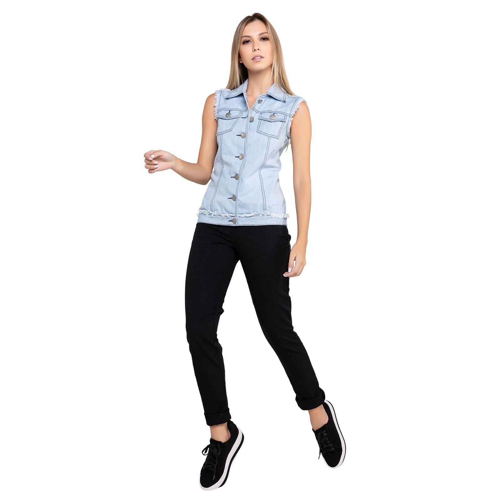 Colete Feminino Jeans