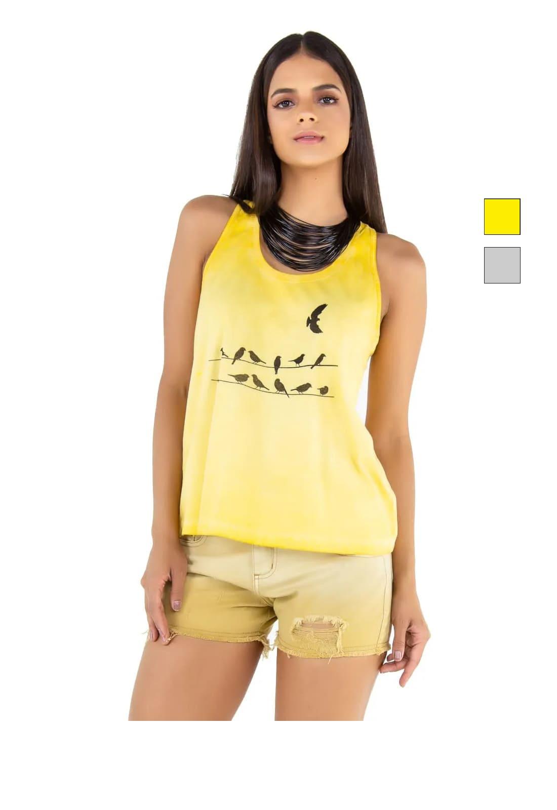 Regata Camiseta Feminina Latifundio Birds