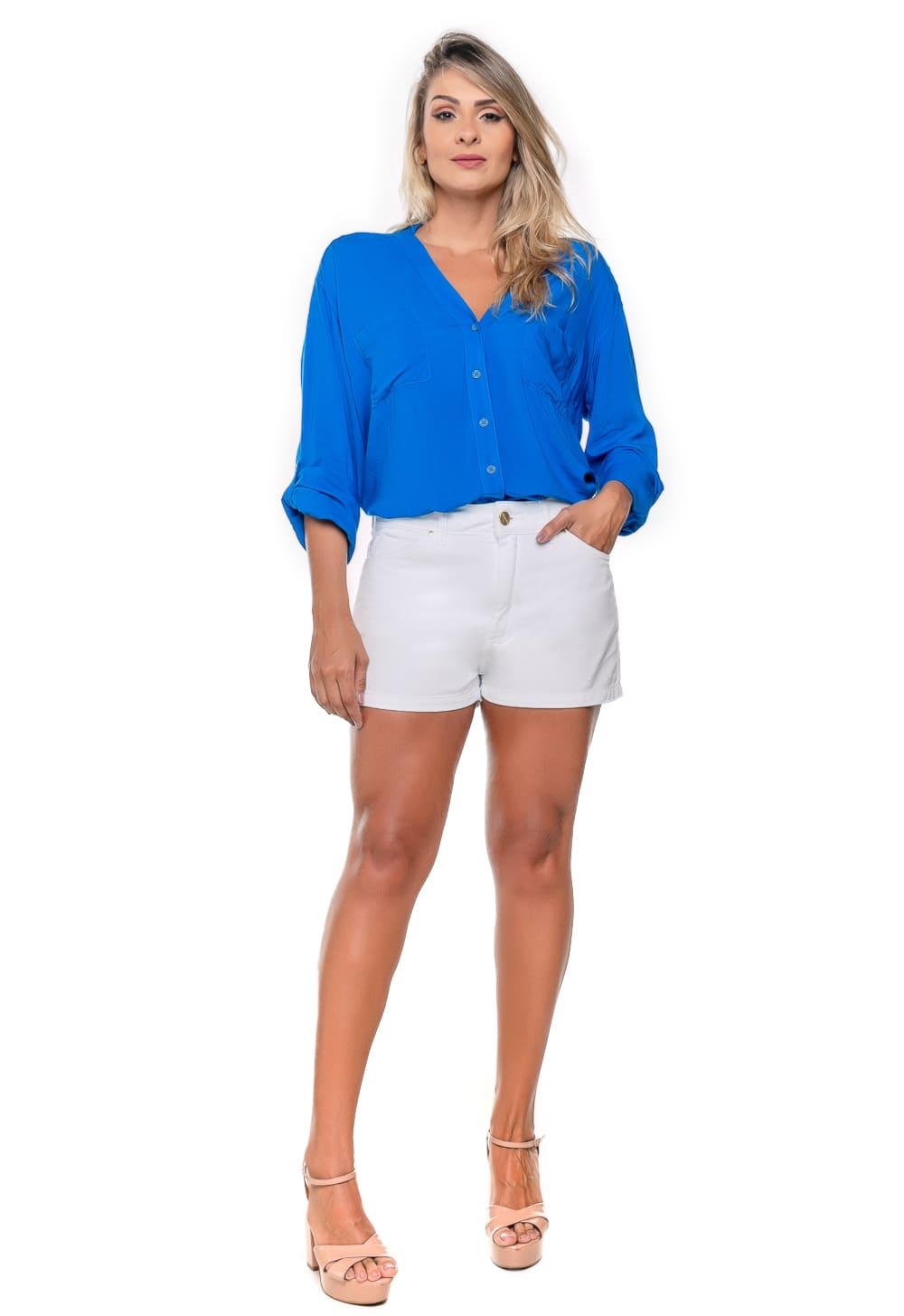Short Feminino Curto Branco