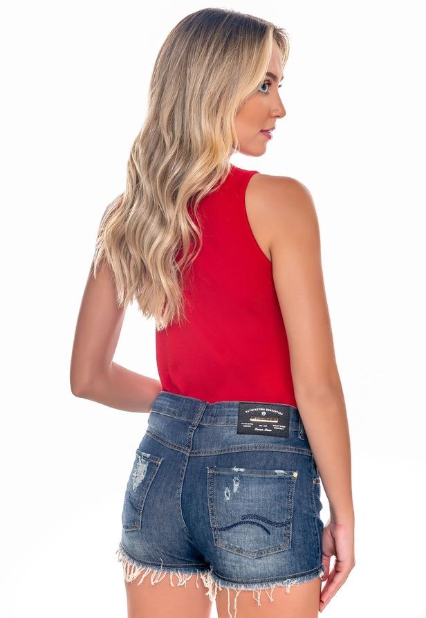 Short Jeans com Puídos