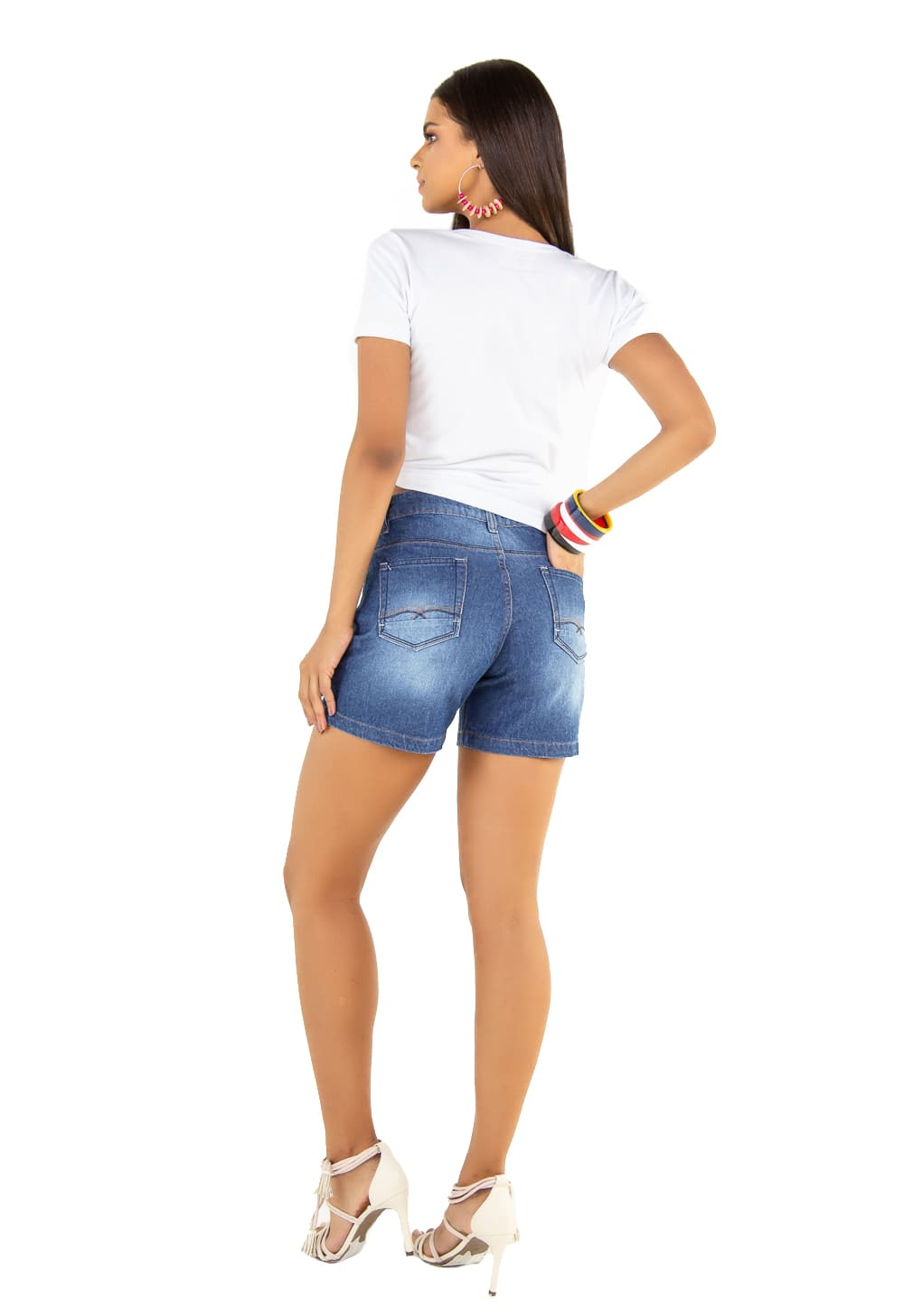 Short Jeans Feminino Boyfriend Curto