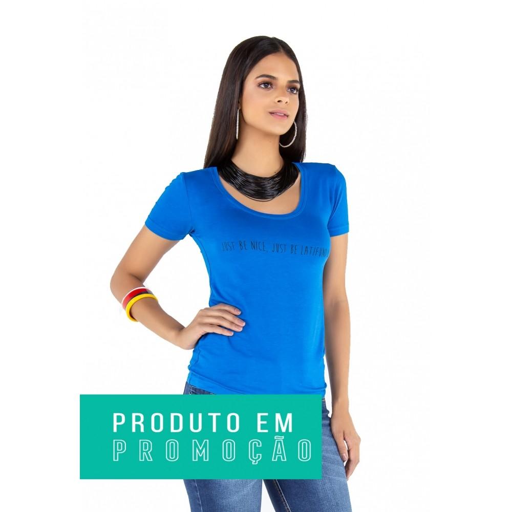 T-shirt Camiseta Feminina Latifundio Azul