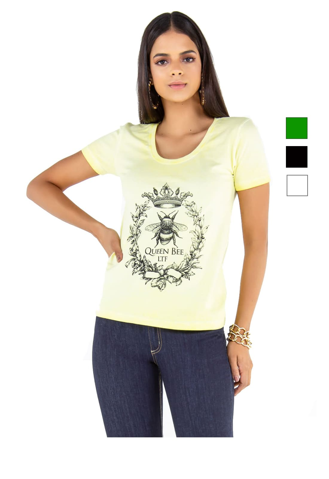 T-shirt Camiseta Feminina Latifundio Queen Bee