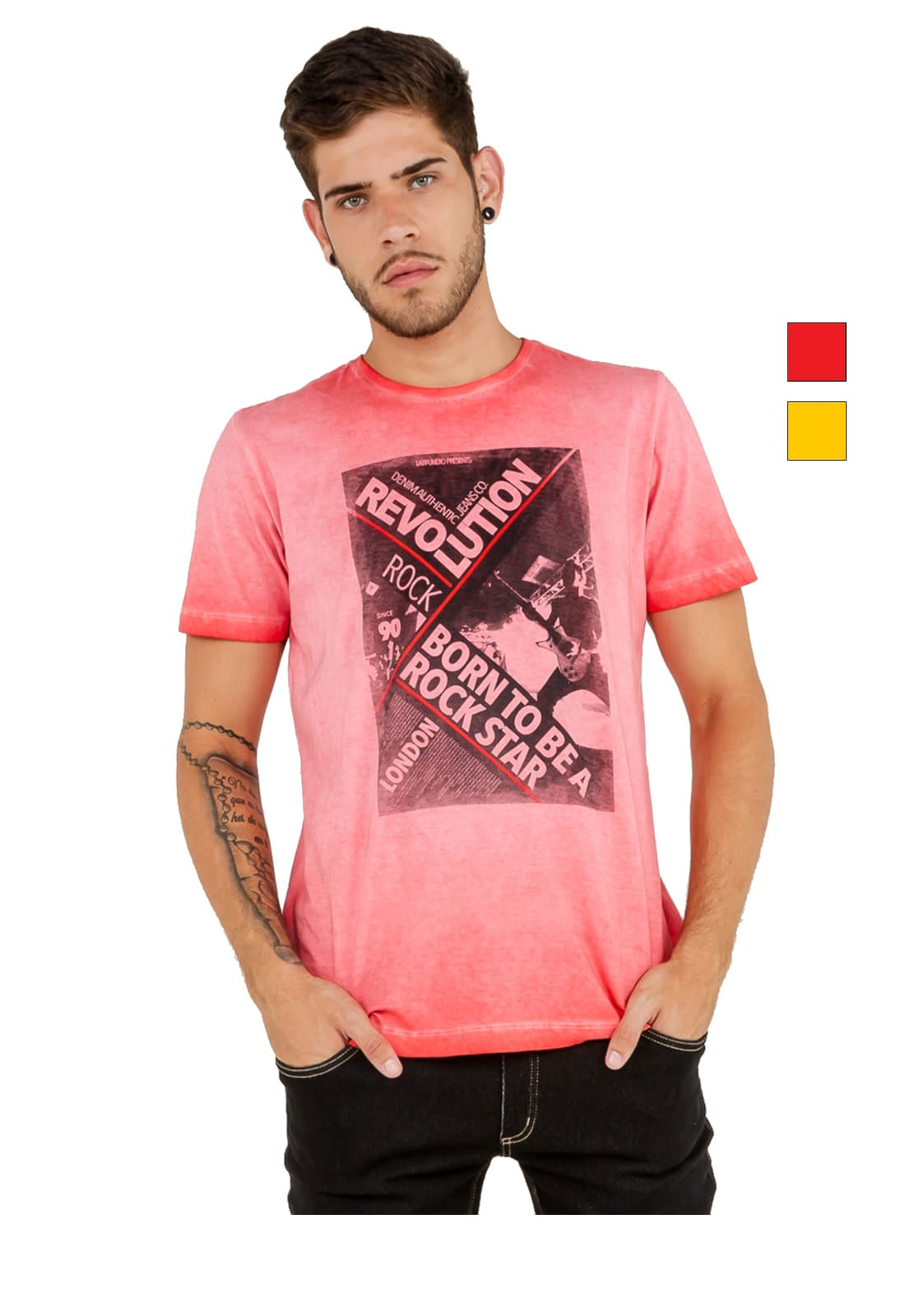 T-shirt Camiseta Masculina Latifundio Rock Star