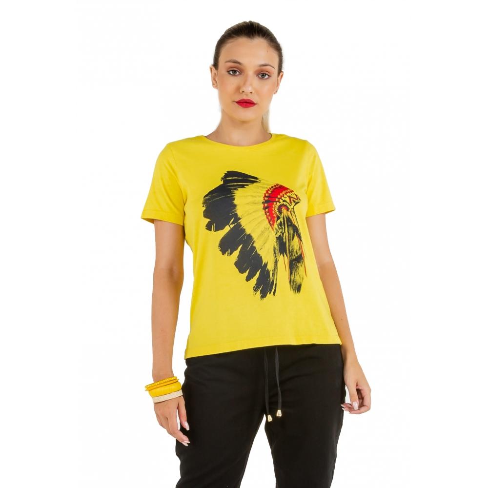 T-shirt Feminina Estampa Cocar