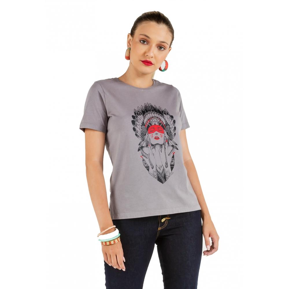 T-shirt Feminina Estampa India