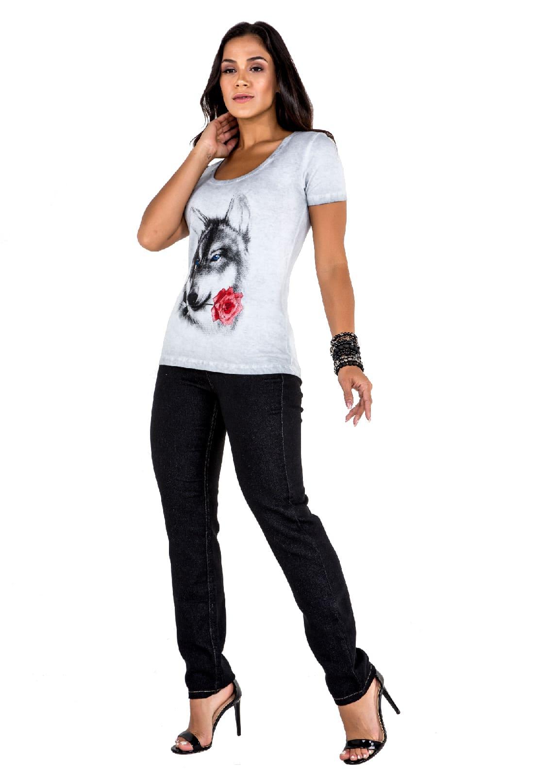 T-shirt Feminina Latifundio Cinza