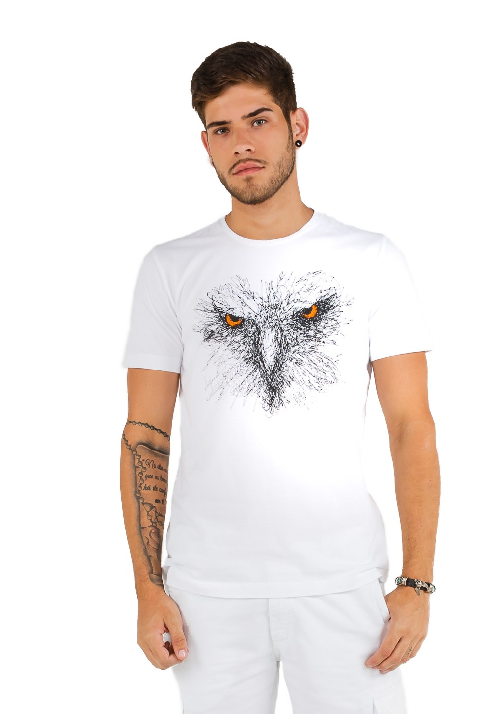 T-shirt Masculina Estampa Ave