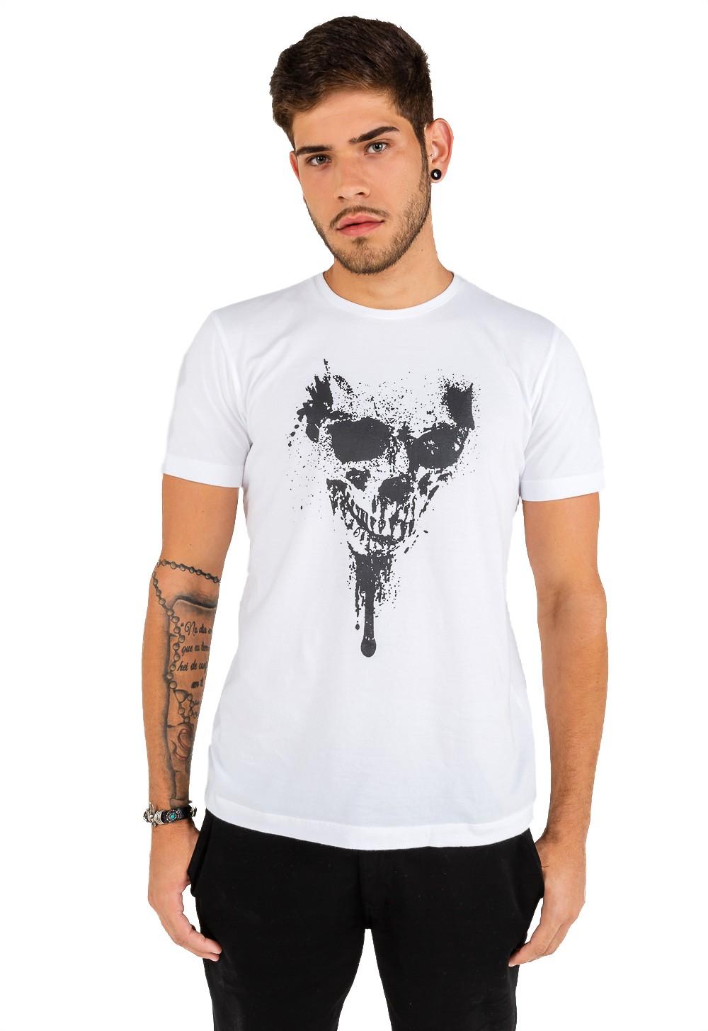 T-shirt Masculina Estampa Skull