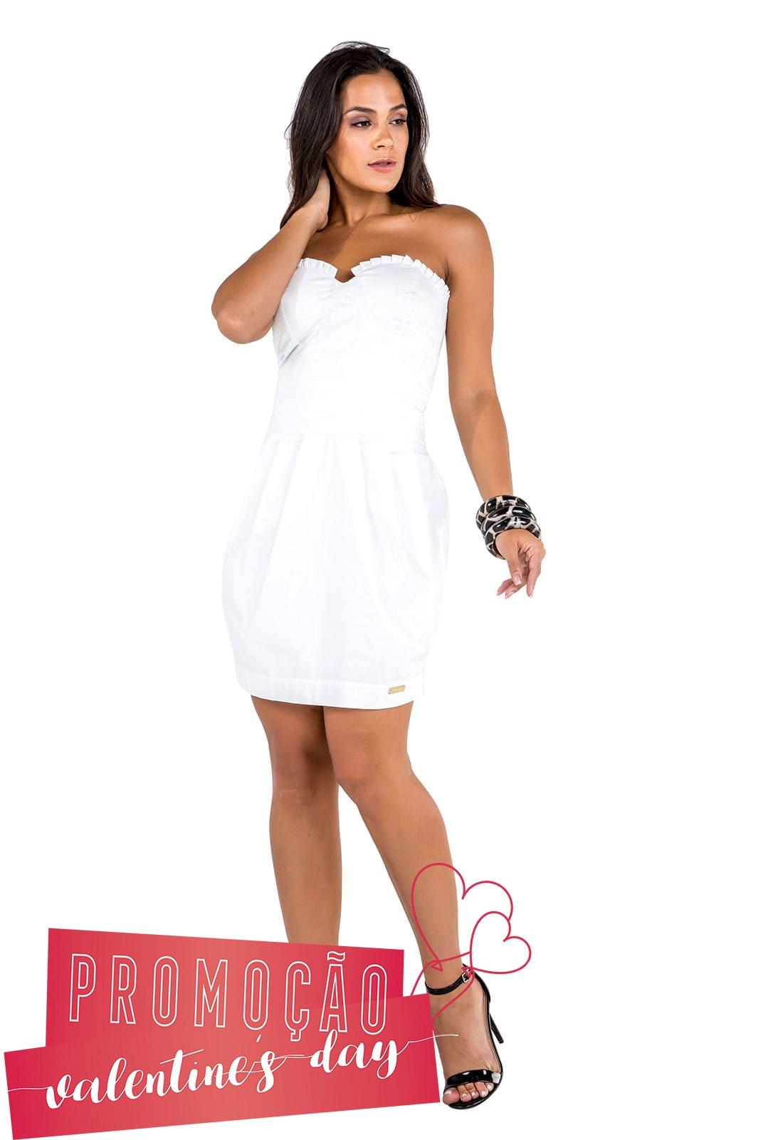 Vestido Tomara que Caía Branco
