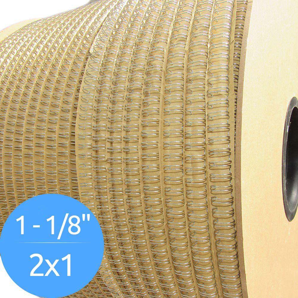 """Bobina de Garras de Duplo Anel Wire-o 2x1 1""""1/8 250 Folhas Cor Prata"""