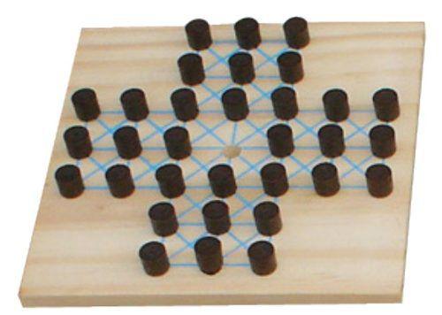 Brinquedos Educativos - Jogo Resta 1 - 20x20cm 32 Peças