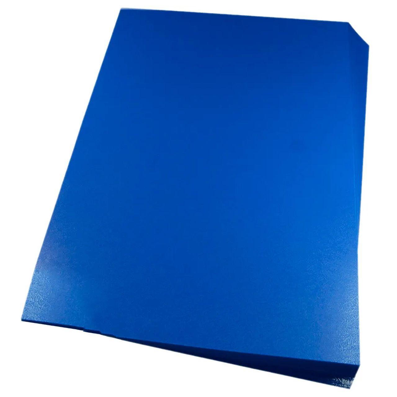 Capa para encadernação A4 Azul PP Couro 0,30mm 100un